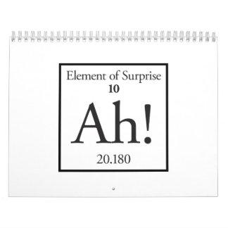 Ah elemento de la sorpresa calendario de pared