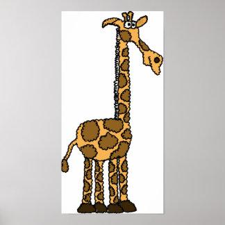AH- Funky Giraffe Poster