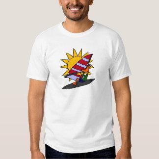 AH- Funny Duck Windsurfing Cartoon Shirt