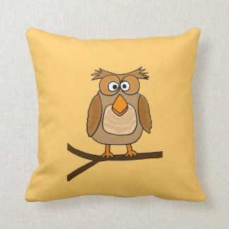 AH- Funny Owl Cartoon Pillow