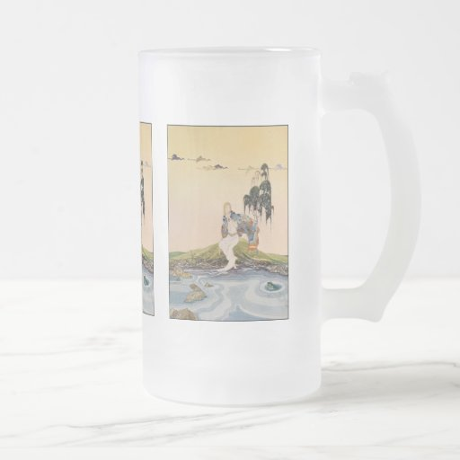 Ah, ha! You are at last in my domain, little fool! Frosted Glass Beer Mug