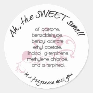 Ah los pegatinas dulces del olor