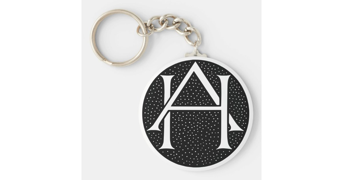 Ah Monogram For The Initials Letters Ah Keychain Zazzle Com