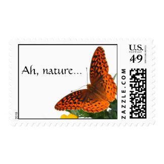Ah, nature... postage stamp