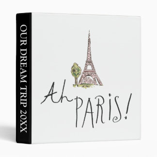 Ah Paris! Quote | With Effiel Tower 3 Ring Binder