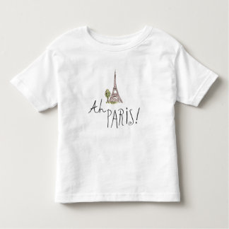 Ah Paris! Quote | With Effiel Tower Toddler T-shirt