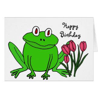 AH tarjeta de cumpleaños divertida de la rana