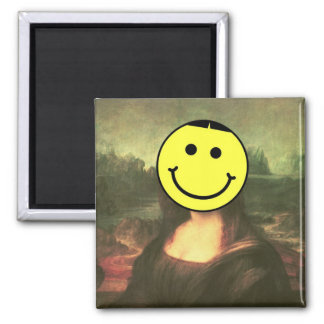 Ah, That Smiley Face 2 Inch Square Magnet