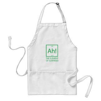 Ah the element of surprise adult apron