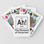 Ah! The Element of Surprise. Bicycle Poker Deck