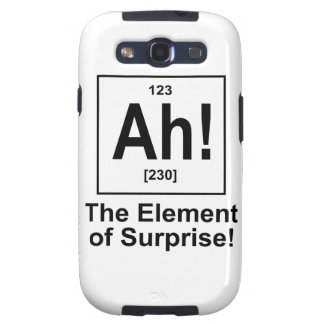 Ah! The Element of Surprise. Samsung Galaxy S3 Covers