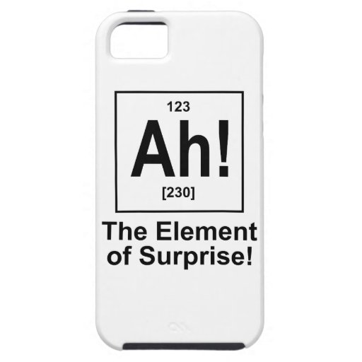 Ah! The Element of Surprise. iPhone 5 Covers