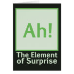 Ah! The element of surprise Greeting Card