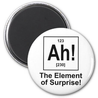 Ah! The Element of Surprise. 2 Inch Round Magnet