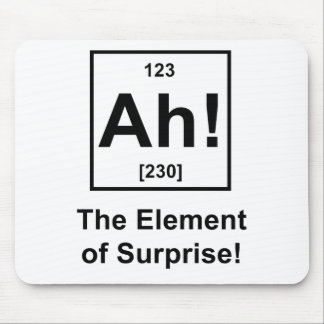 Ah! The Element of Surprise Mouse Pad