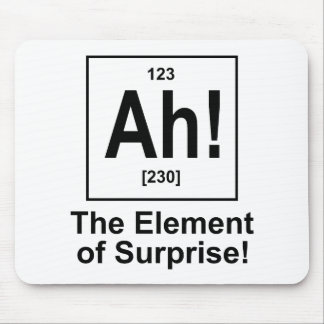 Ah! The Element of Surprise. Mouse Pads