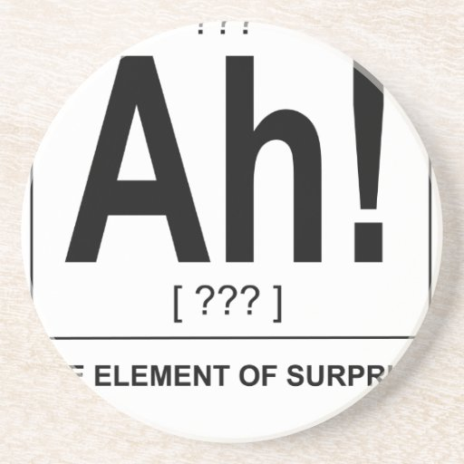 Ah! The Element of Surprise N.png Drink Coasters