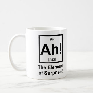 Ah the Element of Surprise Periodic Element Symbol Classic White Coffee Mug