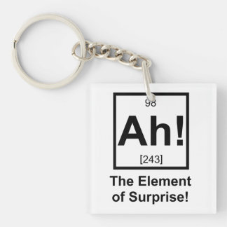 Ah the Element of Surprise Periodic Element Symbol Keychain