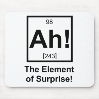 Ah the Element of Surprise Periodic Element Symbol Mouse Pad
