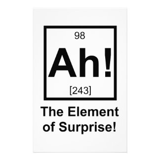 Ah the Element of Surprise Periodic Element Symbol Stationery Design