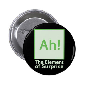 Ah! The element of surprise Pinback Button