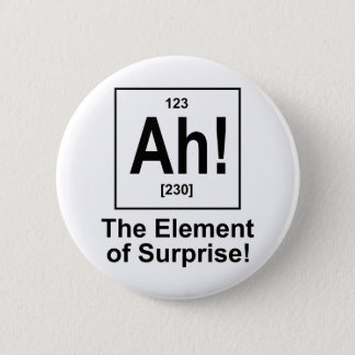 Ah! The Element of Surprise. Pinback Button