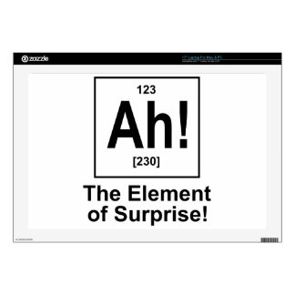 """Ah! The Element of Surprise. Skins For 17"""" Laptops"""