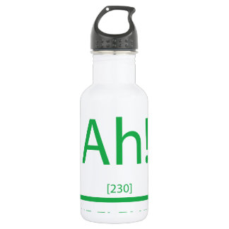 Ah the element of surprise stainless steel water bottle