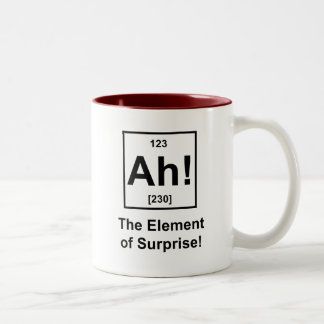 Ah! The Element of Surprise Two-Tone Coffee Mug
