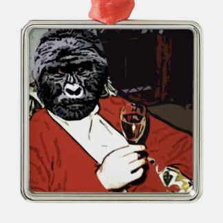 Ah the Gorilla goodlife Metal Ornament