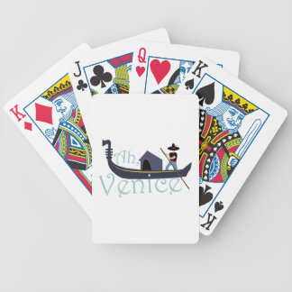 Ah, Venice! Bicycle Playing Cards