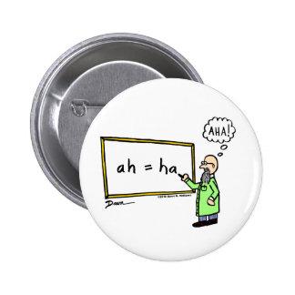 ¡Aha! Botón del dibujo animado Pin