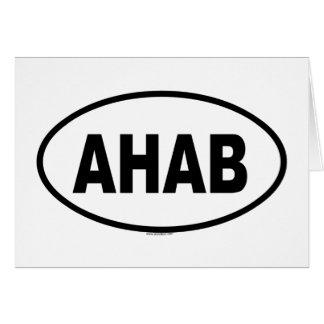 AHAB GREETING CARD