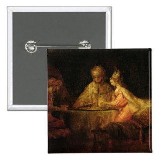 Ahasuerus , Haman and Esther, c.1660 Pinback Button