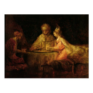 Ahasuerus , Haman and Esther, c.1660 Postcard