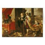 Ahasuerus Showing his Treasure to Mordecai Card