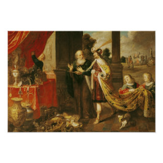 Ahasuerus Showing his Treasure to Mordecai Posters
