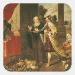 Ahasuerus Showing his Treasure to Mordecai Stickers