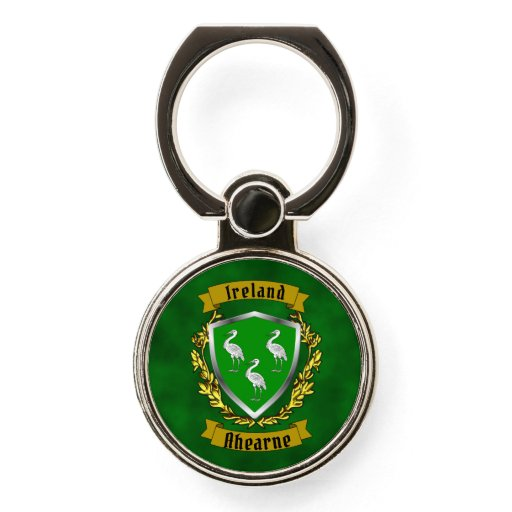 Ahearne/Aherne Irish Shield Phone Ring Stand
