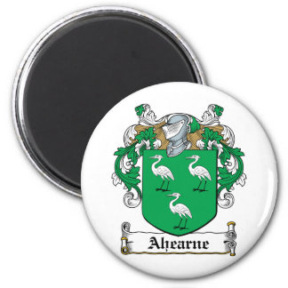 Ahearne Family Crest 2 Inch Round Magnet