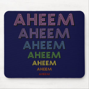 Aheem mantra mouse pad