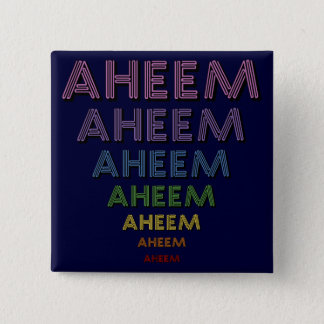 Aheem mantra pinback button