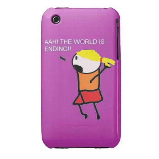 Ahh el mundo está terminando el caso iPhone 3 Case-Mate protector