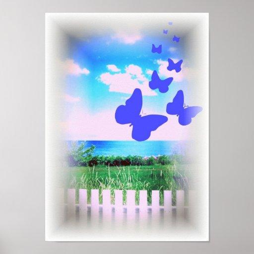 Ahh mariposas poster