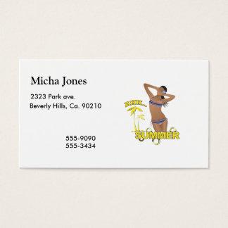 Ahh Summer Beach Bikini Girl Business Card