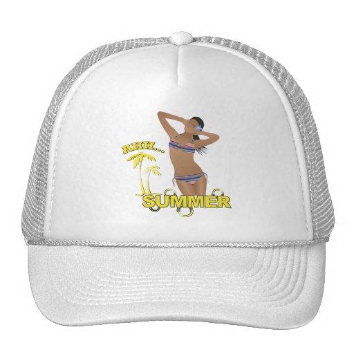 Ahh Summer Beach Bikini Girl Hat