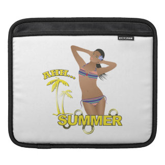 Ahh Summer Beach Bikini Girl iPad Sleeve