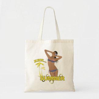 Ahh Summer Beach Bikini Girl Tote Bag