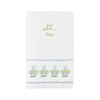 Ahh… té verde funda para libreta y libreta grande moleskine